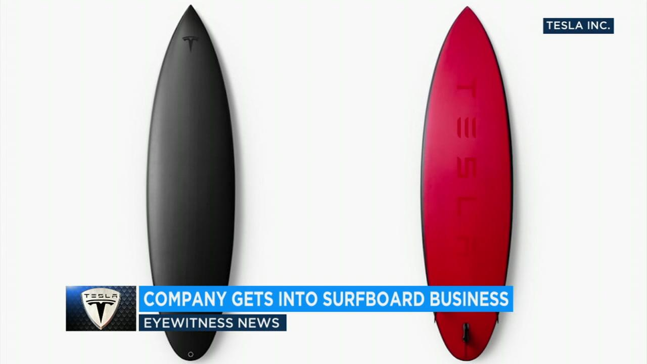 Tesla released 200 limited-edition surfboards over the weekend and they quickly sold out online.