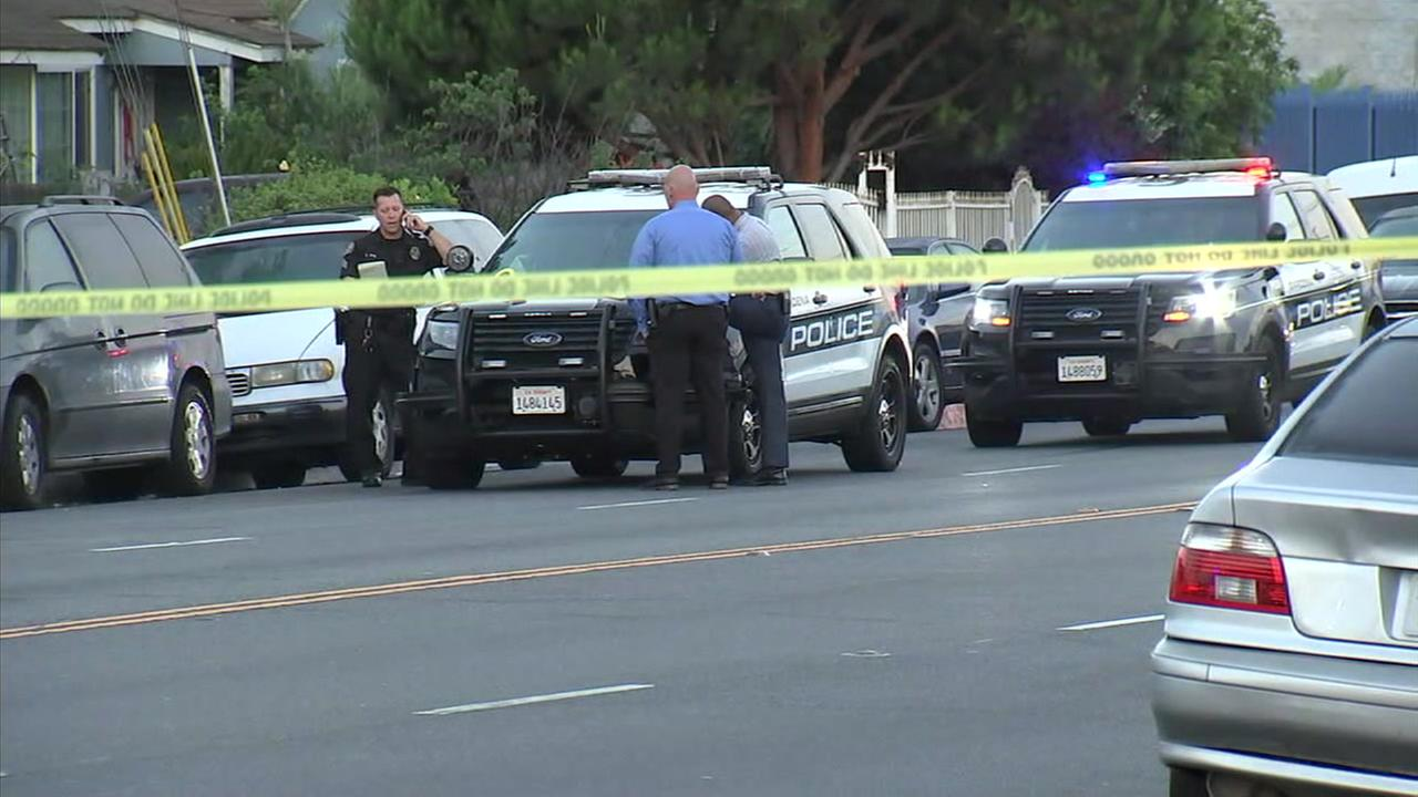 Authorities surrounded an area after shootings in Gardena and Lynwood.