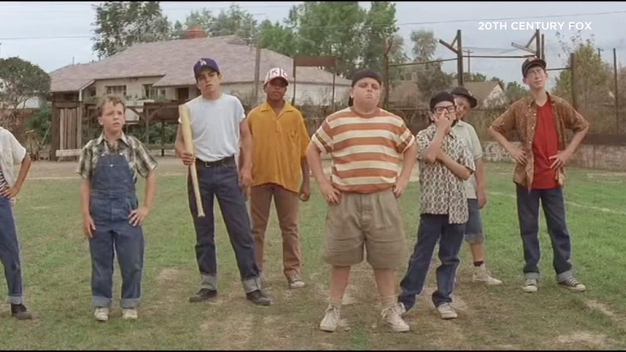 A scene from the popular 1993 baseball film The Sandlot.