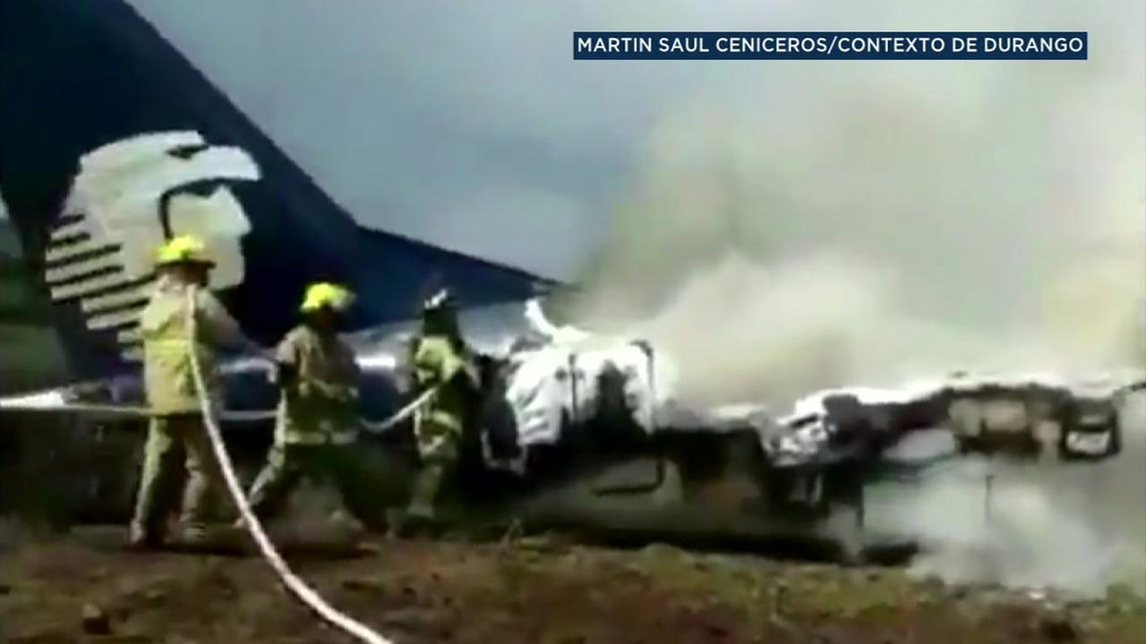 Passenger Ashley Garcia recorded the chaos in which people can be heard screaming and crying immediately after impact.