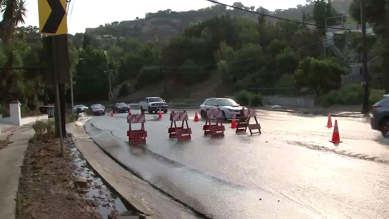 Commuters in Studio City went through a rush hour nightmare after a water main break shut down traffic at one of the valleys busiest intersections.