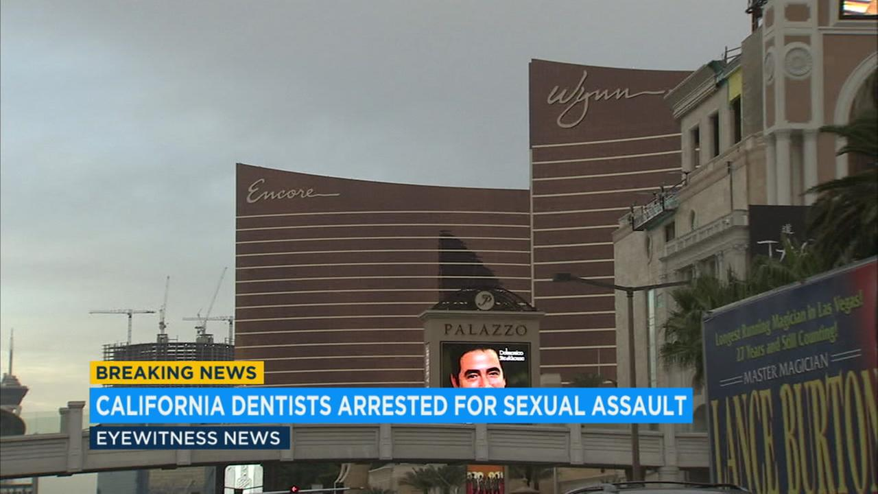 Four California dentists are facing charges for allegedly sexually assaulting a woman inside a the Wynn hotel and casino in Las Vegas.