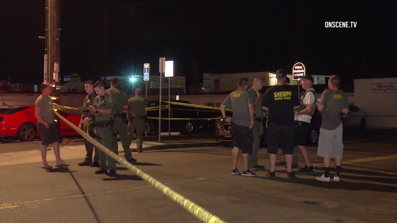 Three U.S. Marines were stabbed and wounded after they intervened in an altercation in San Clemente.
