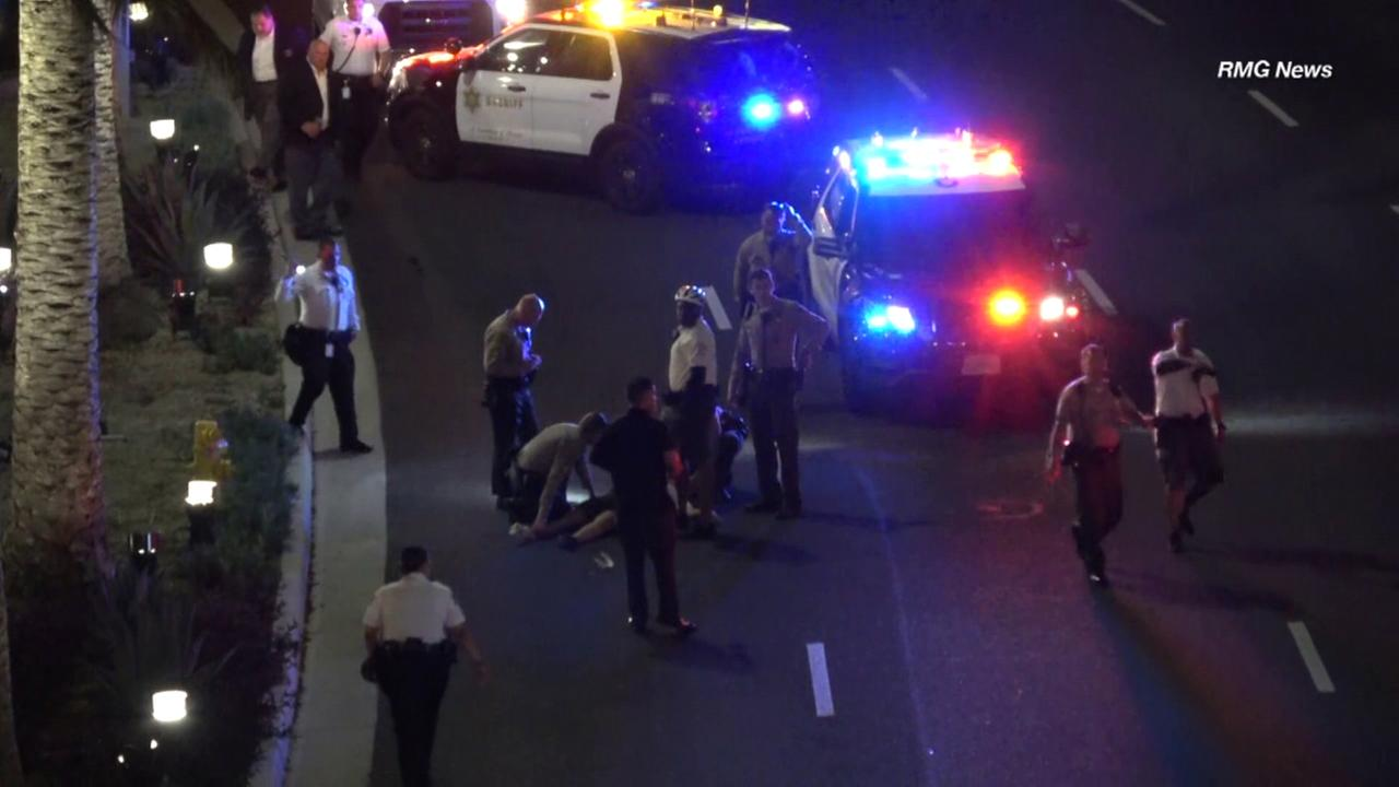 A Los Angeles County sheriffs deputy was on bicycle patrol in Universal City when she was struck by a hit-and-run driver, authorities said.