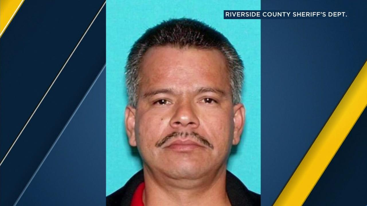 Police are searching for Raul Vega, 47, of Perris, in connection with a triple shooting in Mead Valley.