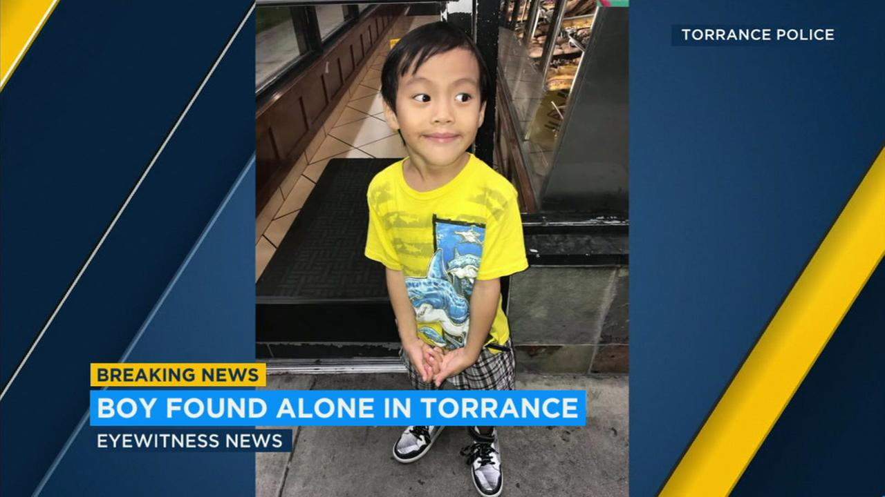 Police in Torrance are asking for the publics help identifying a young boy who walked in to a doughnut shop Saturday night by himself.