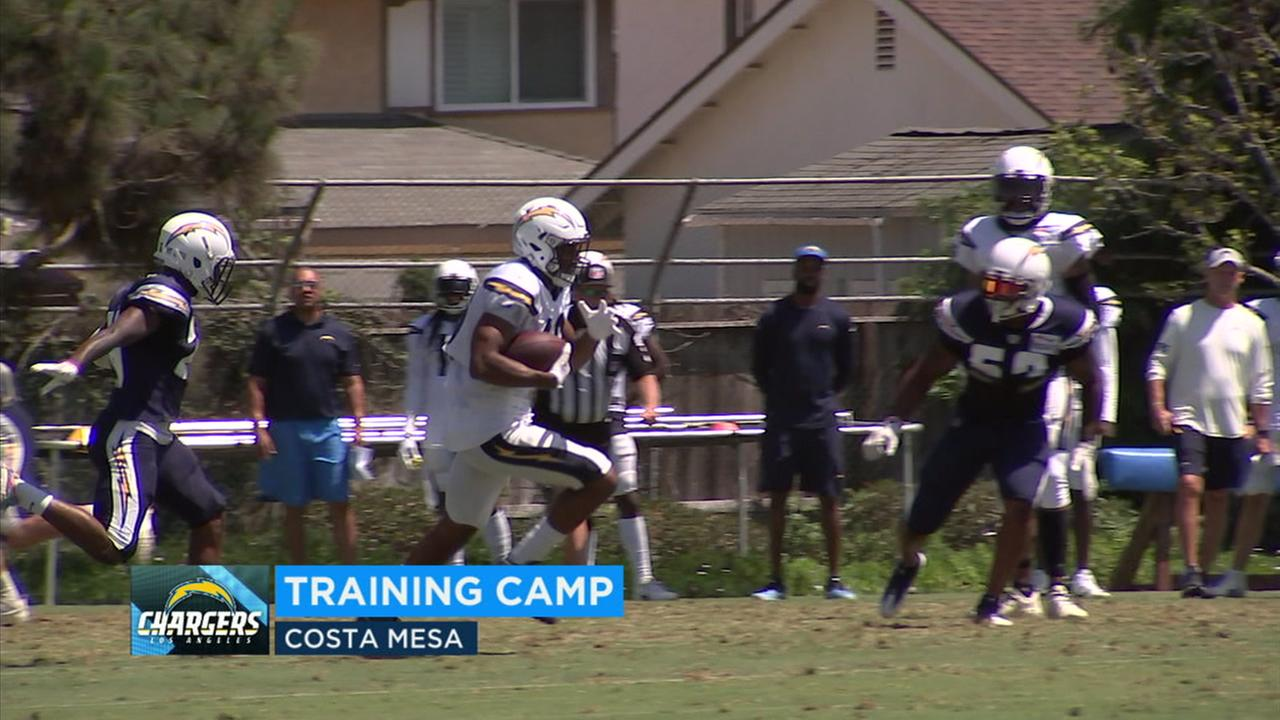 The Los Angeles Chargers are returning to training camp in Costa Mesa on Monday.