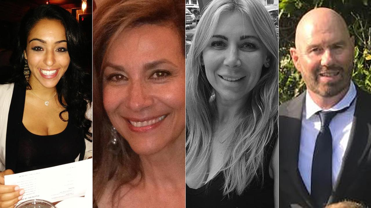 From left, Nasim Ghanadan, Floria Hakimi, Lara Shepherd and Scott Shepherd were identified as four of the five deceased victims after a small plane crashed in Santa Ana.