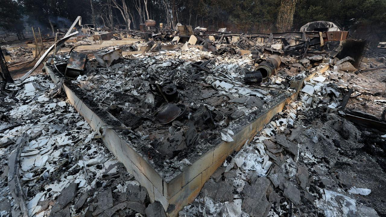 A wildlife-ravaged residence is seen Tuesday, July 31, 2018, in Lakeport, Calif.