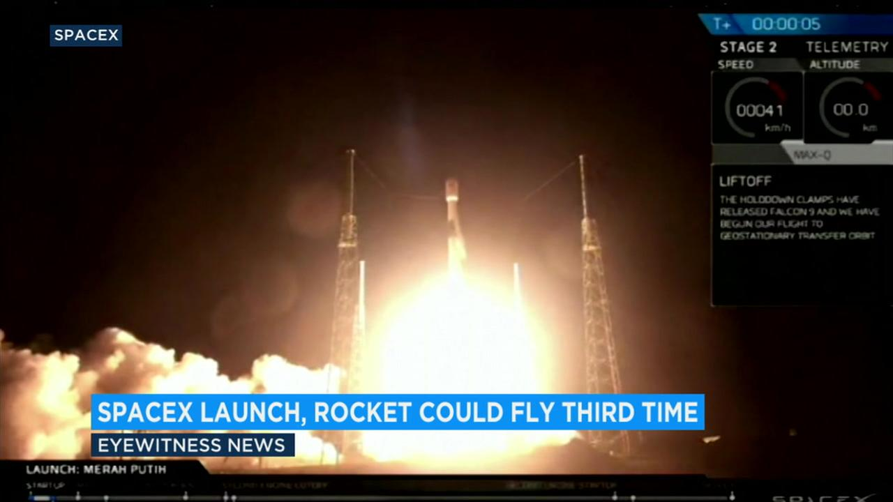 SpaceX launched its Falcon 9 rocket to deploy a communications satellite that will provide service to Indonesia.