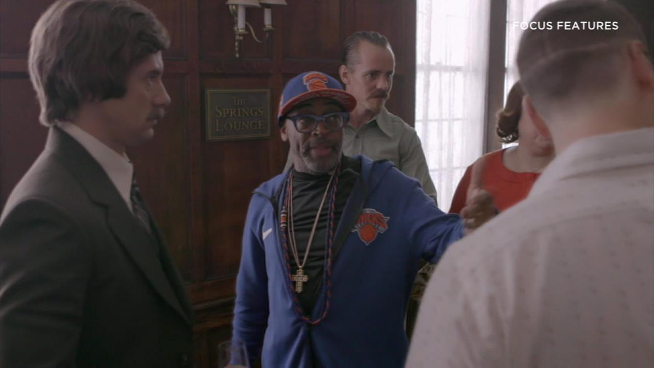 Director Spike Lee is shown behind the scenes during the making of his movie BlacKkKlansman.