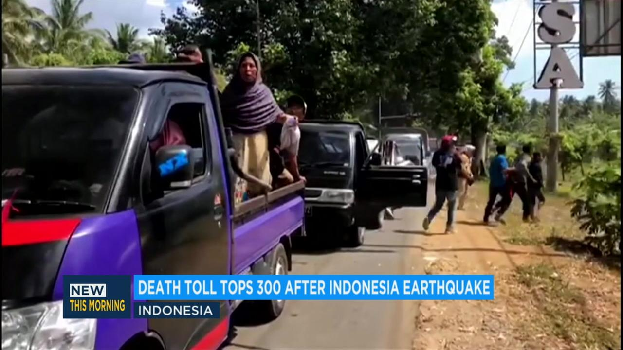 Indonesias top security minister, Wiranto, says the death toll from last Sundays earthquake on the island of Lombok has climbed to 319.