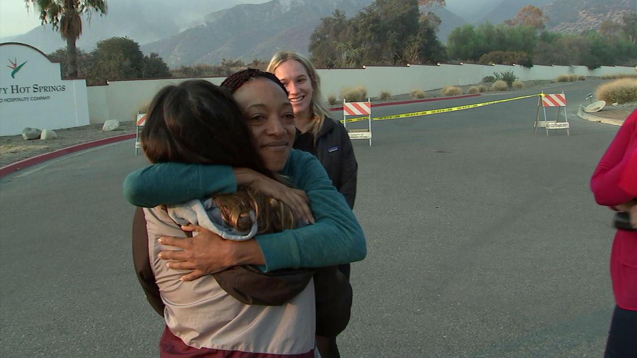 Zakiya Long and her colleagues watched in horror as flames from the Holy Fire crept toward their workplace, the Glen Ivy Hot Springs Spa in Temescal Valley.