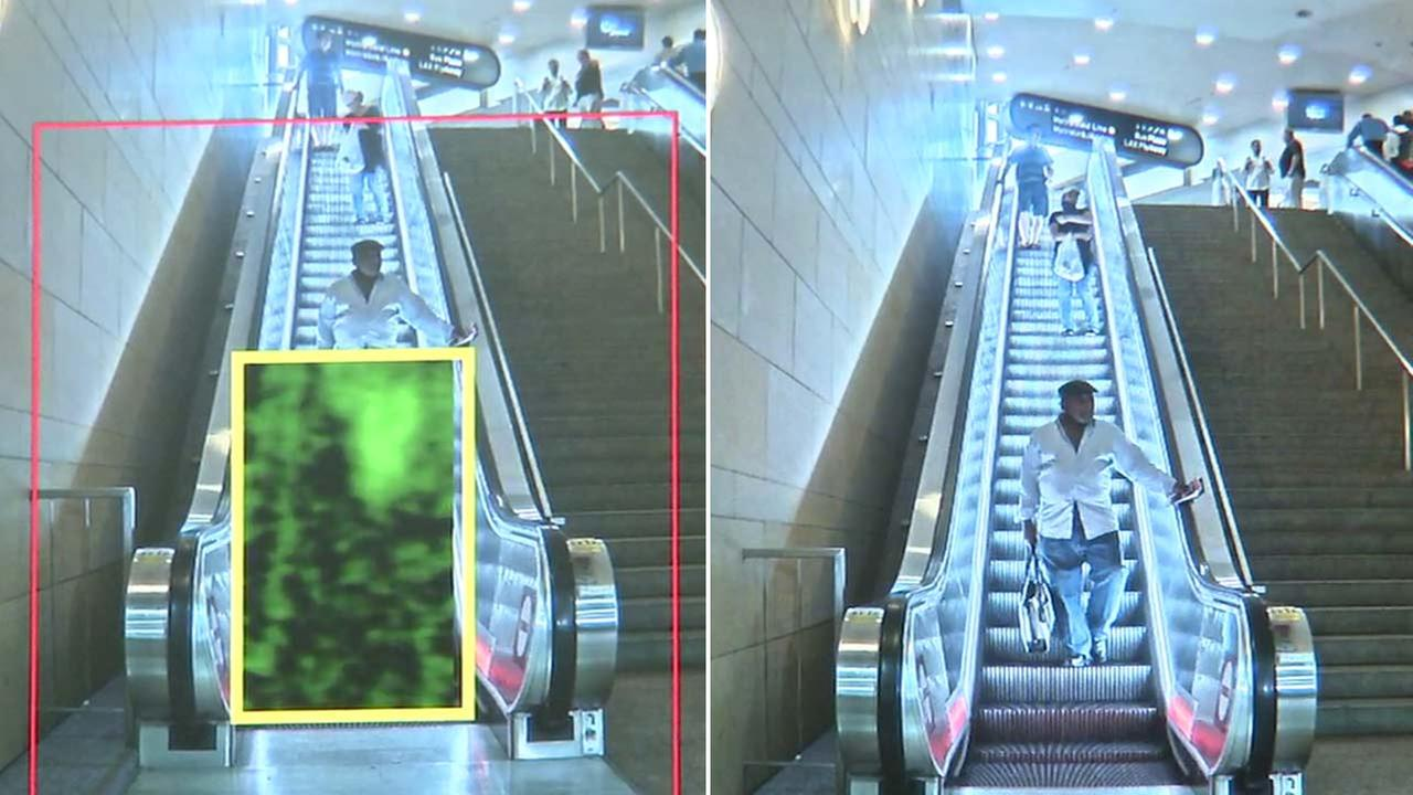 A body scanner is seen inside Union Station.