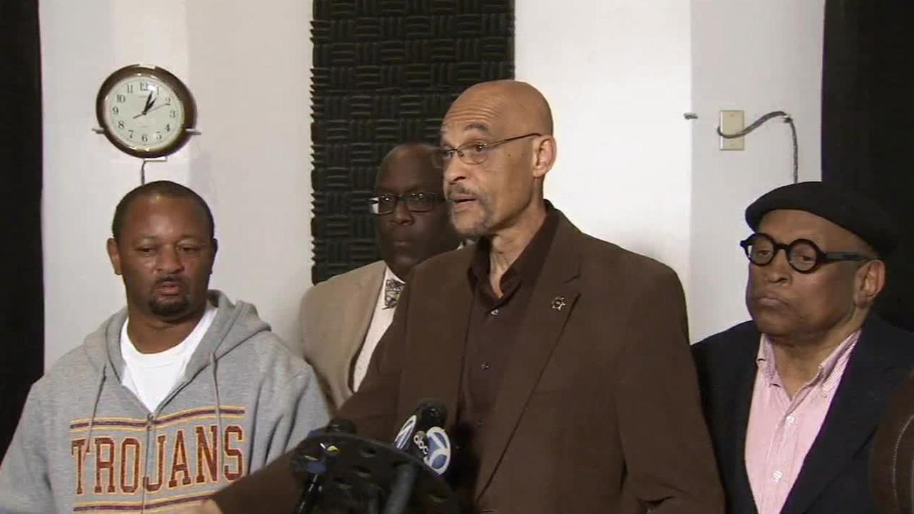 Community activist Earl Ofari Hutchinson speaks about the potential decision to indict an officer in the Michael Brown shooting Saturday, Nov. 15, 2014.