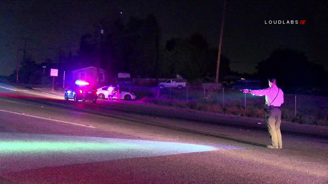 A man was struck and killed by a vehicle in Mead Valley after he allegedly tried to carjack two other vehicles, authorities said.
