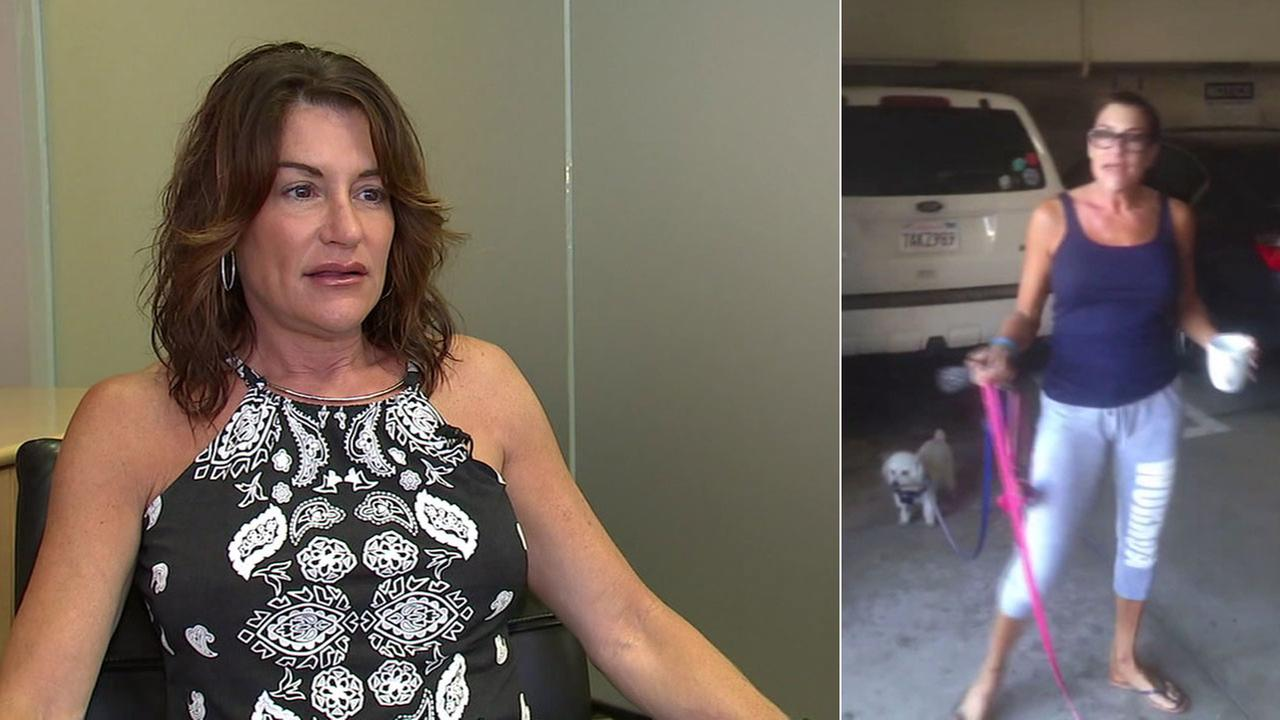 Rhonda Polon, the woman behind a controversial video showing her throwing coffee on a hired contractor, is shown during an interview giving her side of the story.