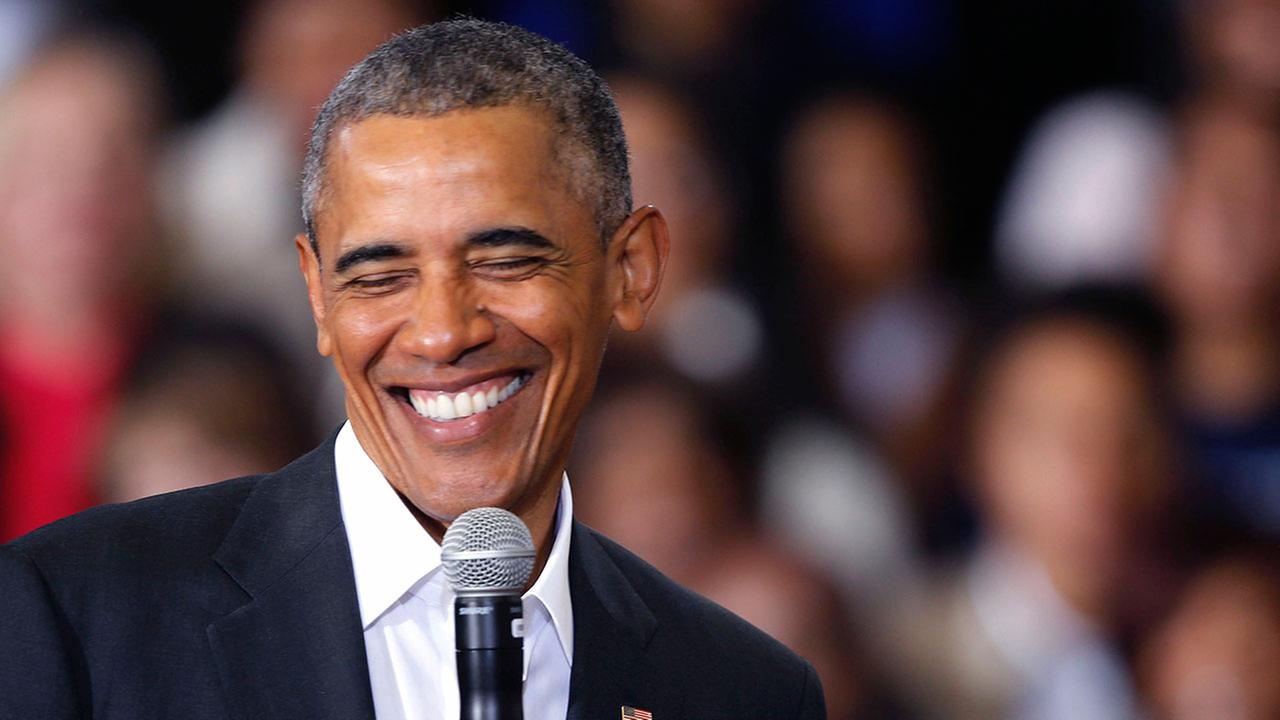 President Barack Obama smiles while speaking during a town hall style event McKinley Senior High School in Baton Rouge, La., Thursday, Jan. 14, 2016.