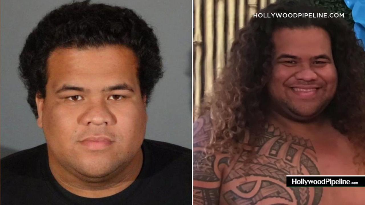 Kyle Paala, 25, who impersonated Maui from Disneys Moana as an entertainer at parties, is shown in a mugshot and an image of him dressed as Maui.
