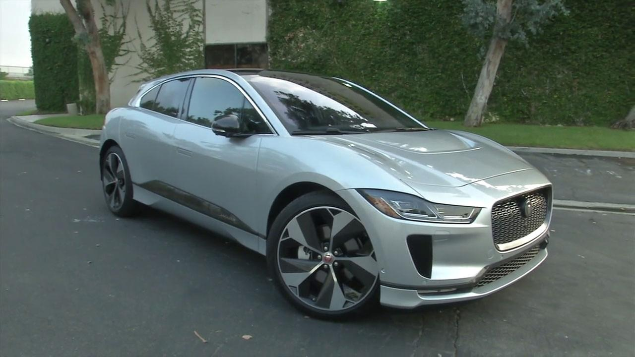 The I-PACE electric Jaguar is shown in a photo.