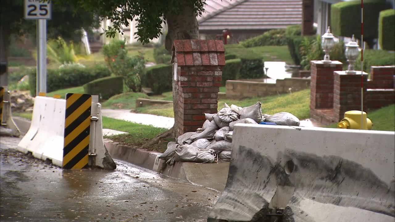 Glendora residents are preparing for more rain.