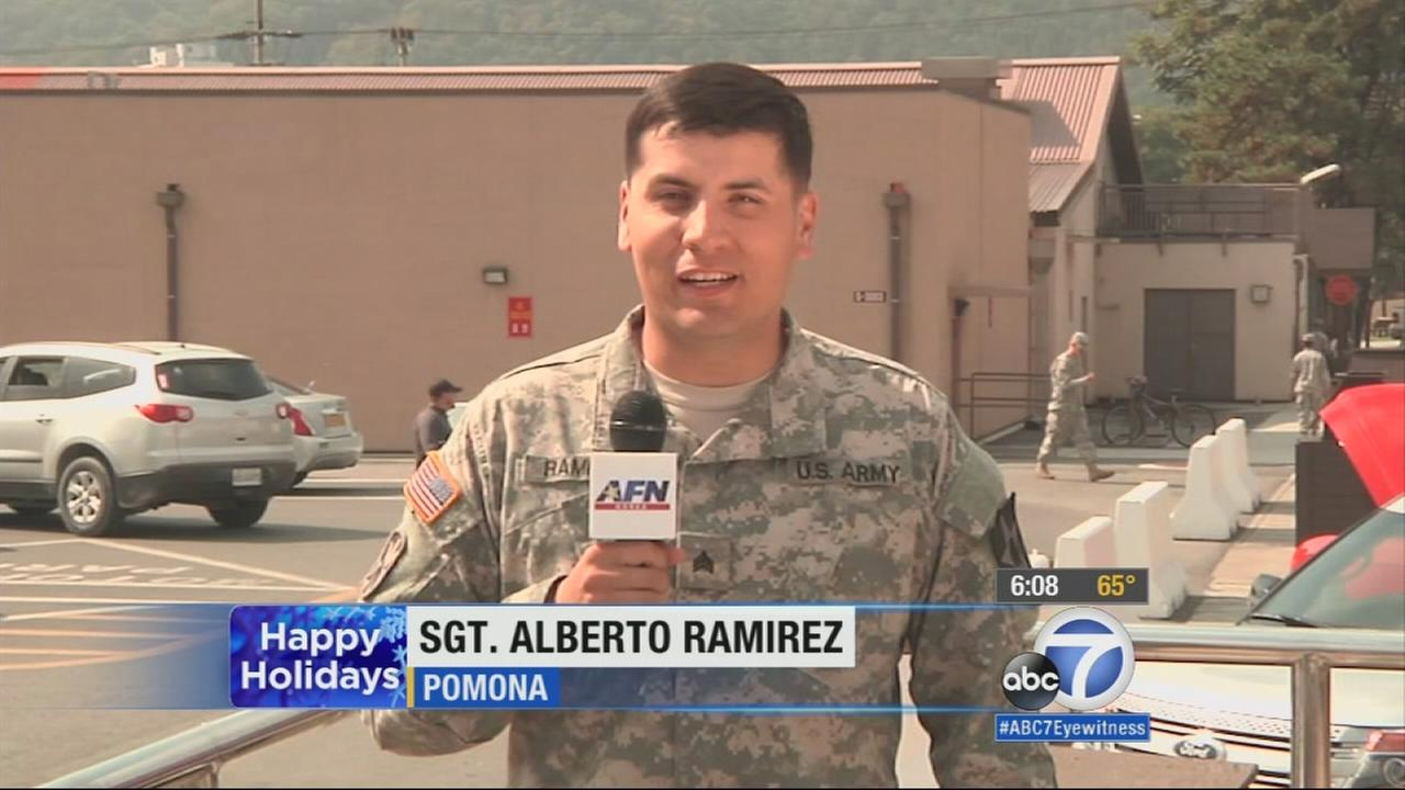 Greeting From Sgt Alberto Ramirez Abc7