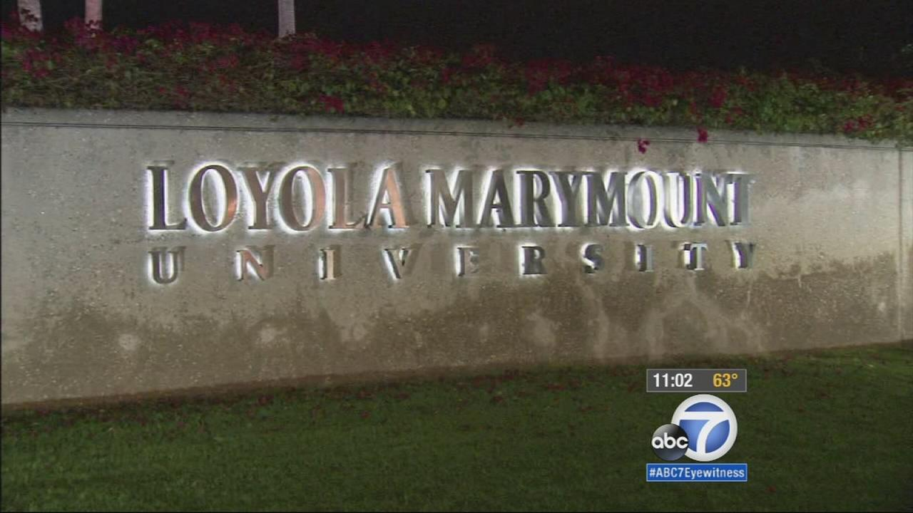 A sign for Loyola Marymount University is shown in this undated file photo.