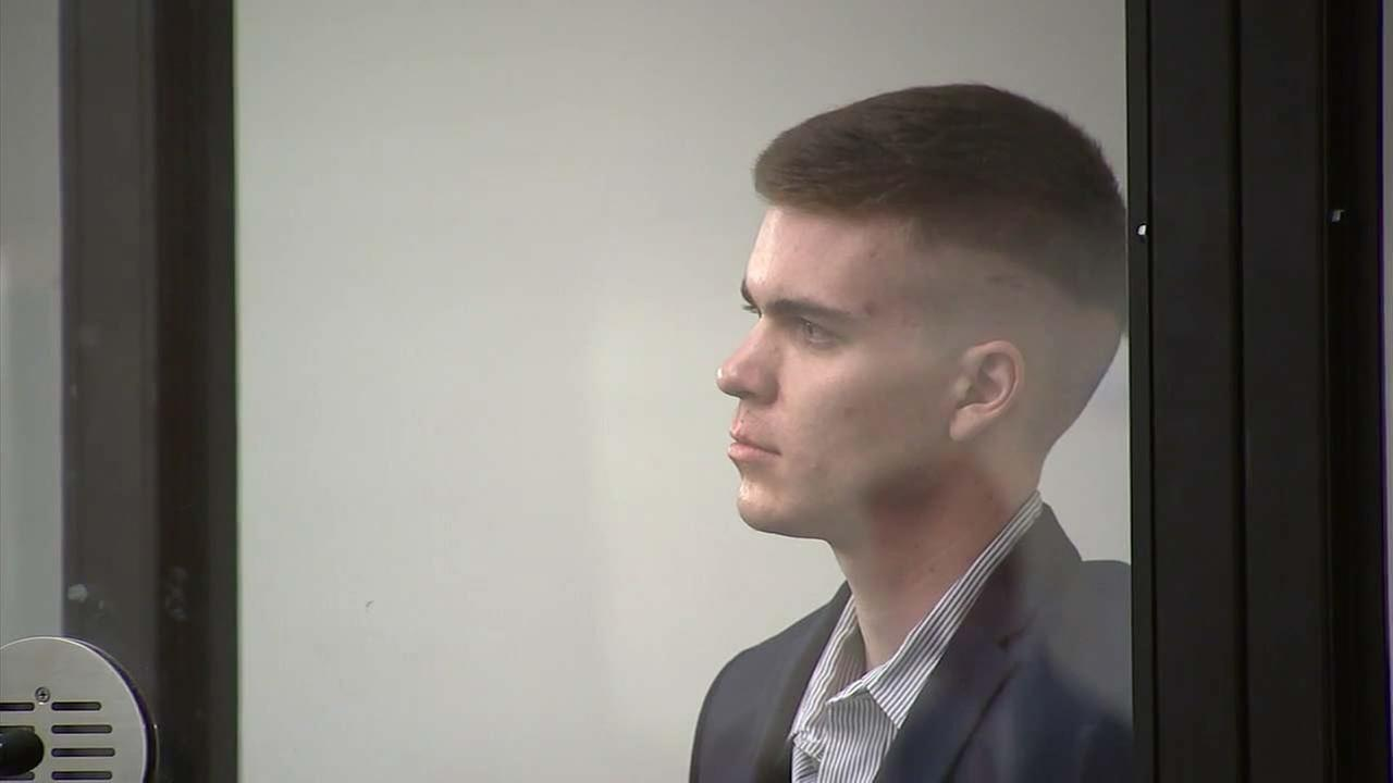 Samuel Woodward appears in court on Monday, Sept. 17, 2018.