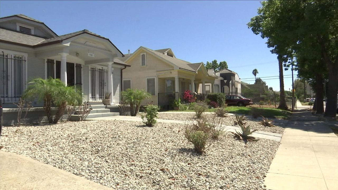 Home in South Los Angeles are shown.