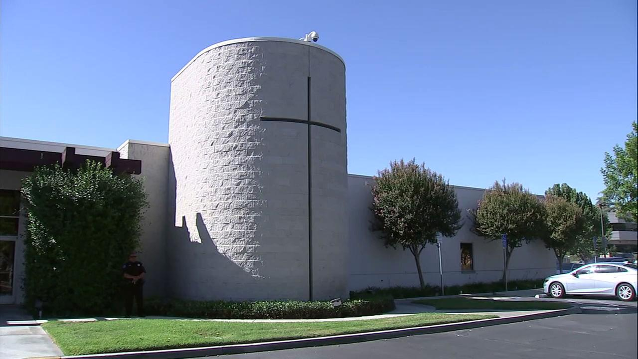 The Diocese of San Bernardino Pastoral Center is shown in a photo.