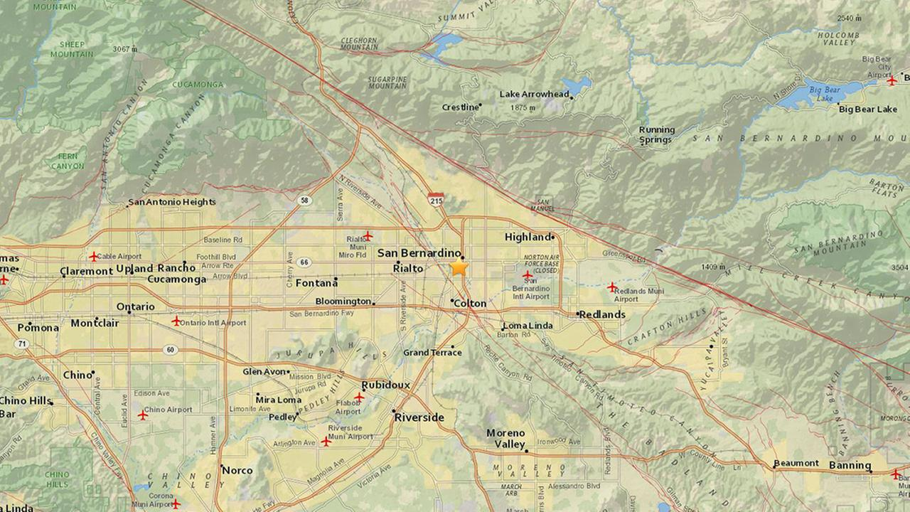 A preliminary-magnitude 3.4 earthquake shook the San Bernardino area on Thursday, Sept. 20, 2018, according to the U.S. Geological Survey.