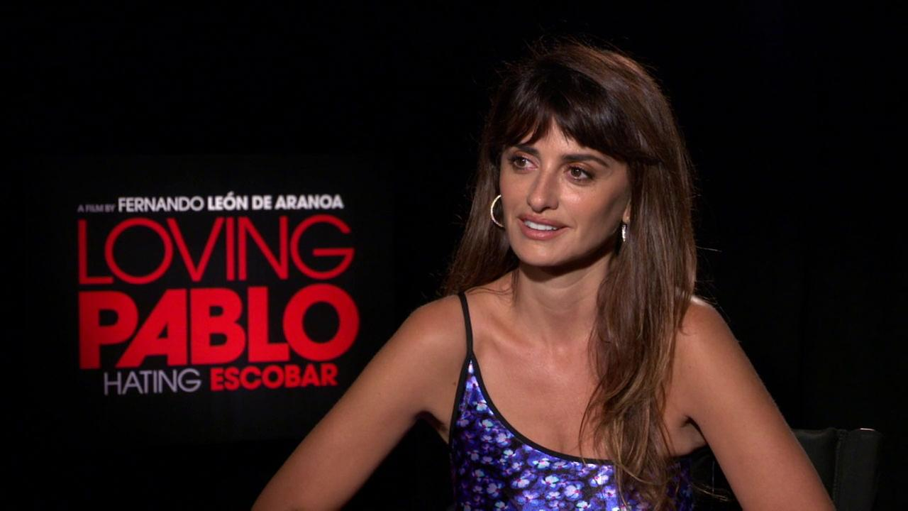 Penelope Cruz is shown in an interview for her new movie Loving Pablo. Hating Escobar.