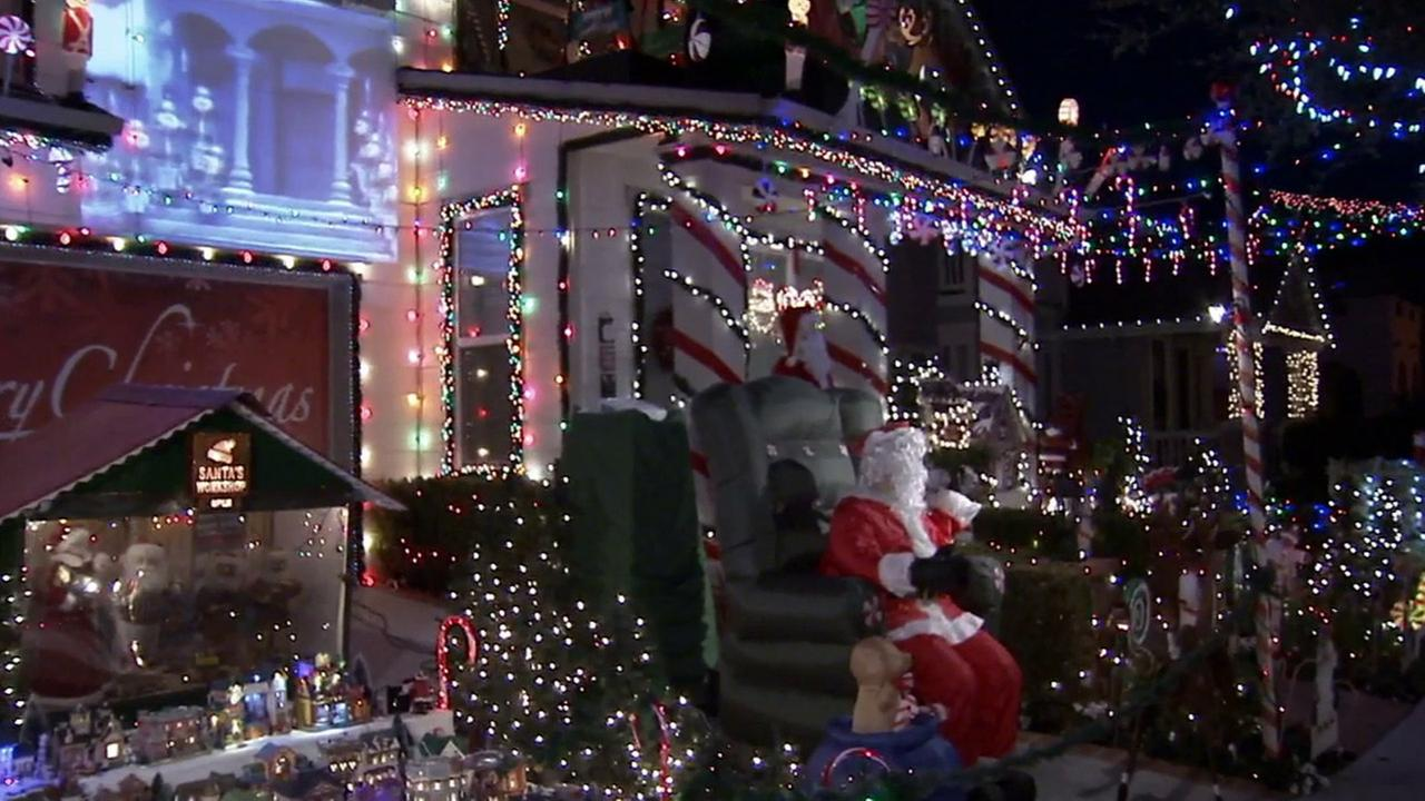 The light display outside a Ladera Ranch home may be shut down by Orange County Public Works this Christmas.