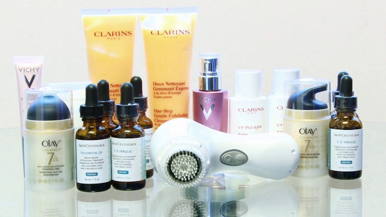 Several beauty products, shown above, now claim to prevent skin damage from air pollutants.