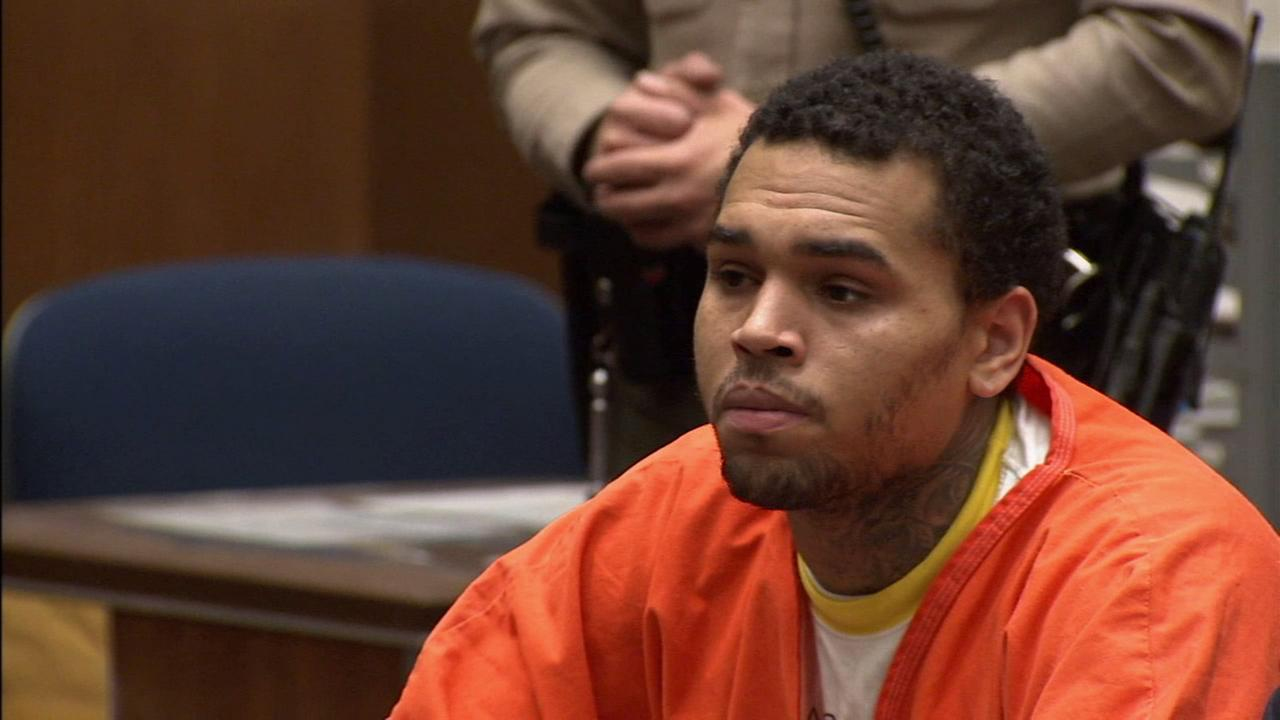 Chris Brown is seen in court on Friday, May 9, 2014.