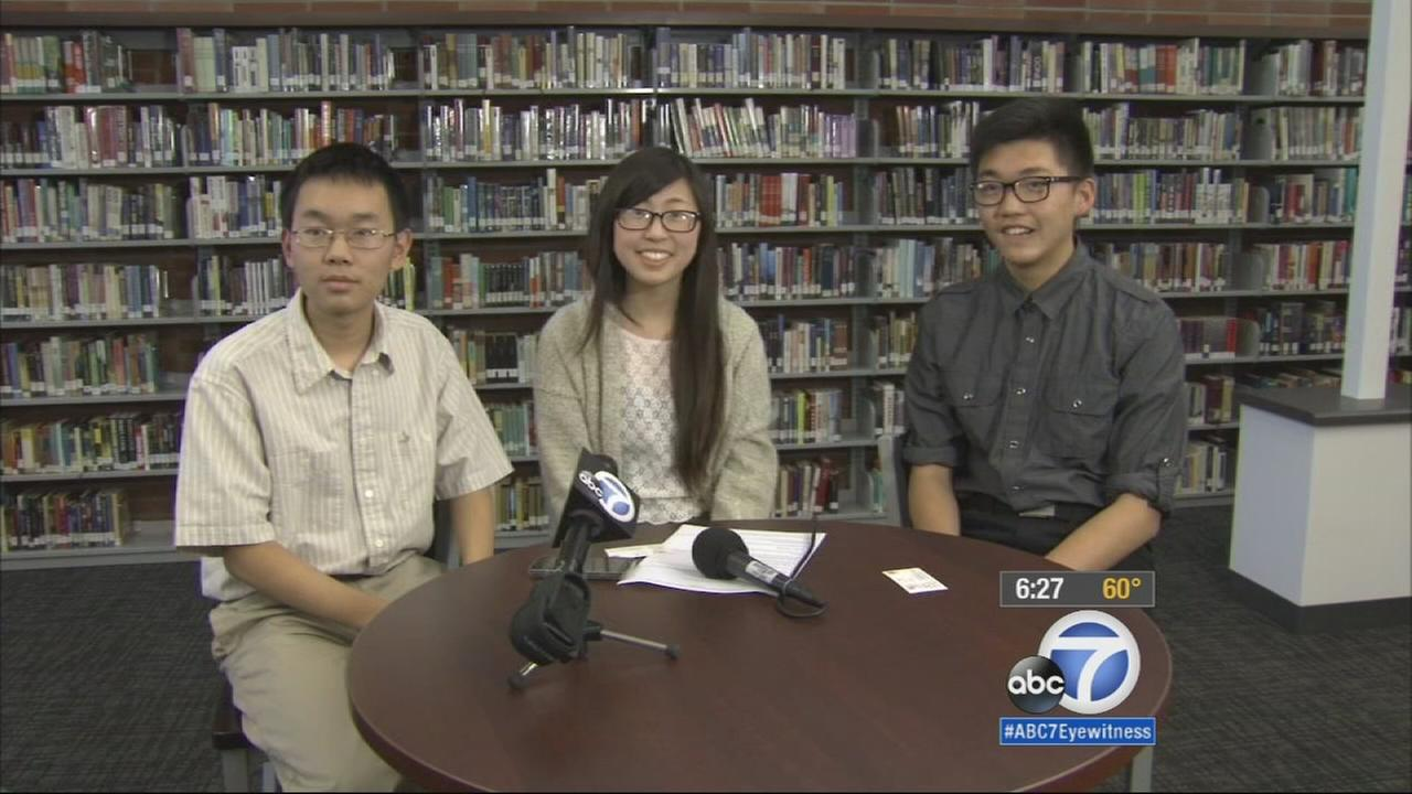 Three 16-year-old Arcadia High School students beat the odds last November and each earned a perfect score on the SATs, one of the most difficult and stressful test for high schoolers.