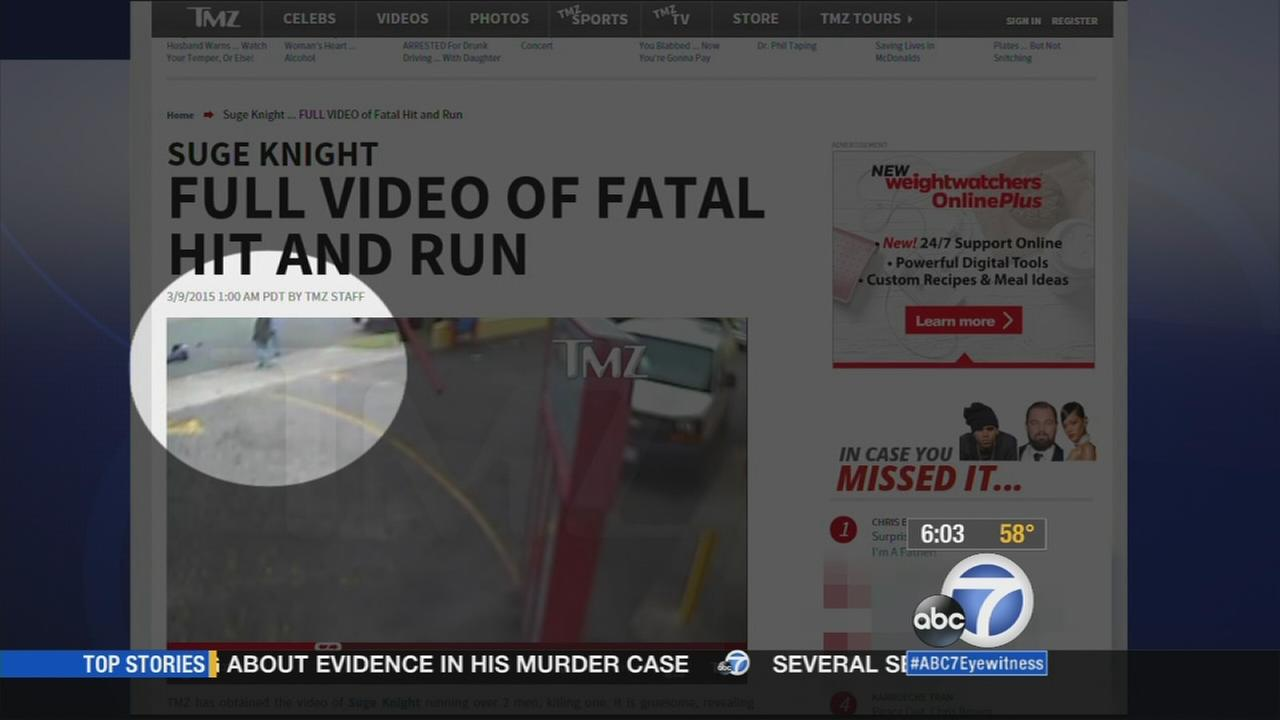 Possible surveillance video of a deadly hit-and-run involving Marion Suge Knight was posted online.
