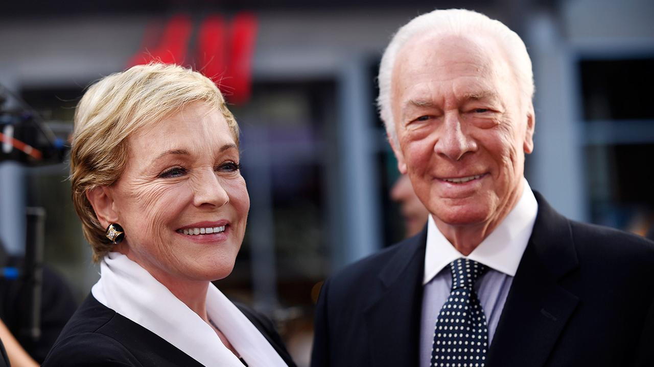 Julie Andrews, left, and Christopher Plummer, cast members in the classic film The Sound of Music, pose together before a 50th anniversary screening of the film at the opening night gala of the 2015 TCM Classic Film Festival on Thursday, March 26, 2015,