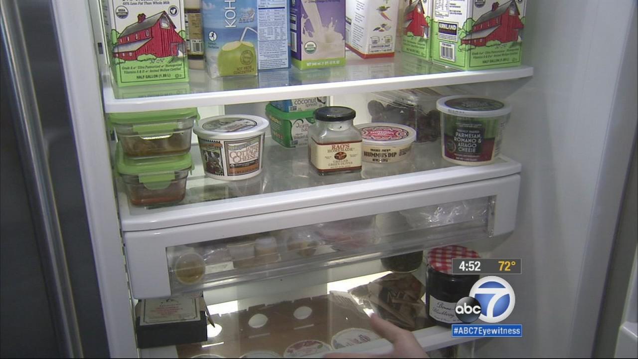 Lori Corbins refrigerator is shown in this undated file photo.