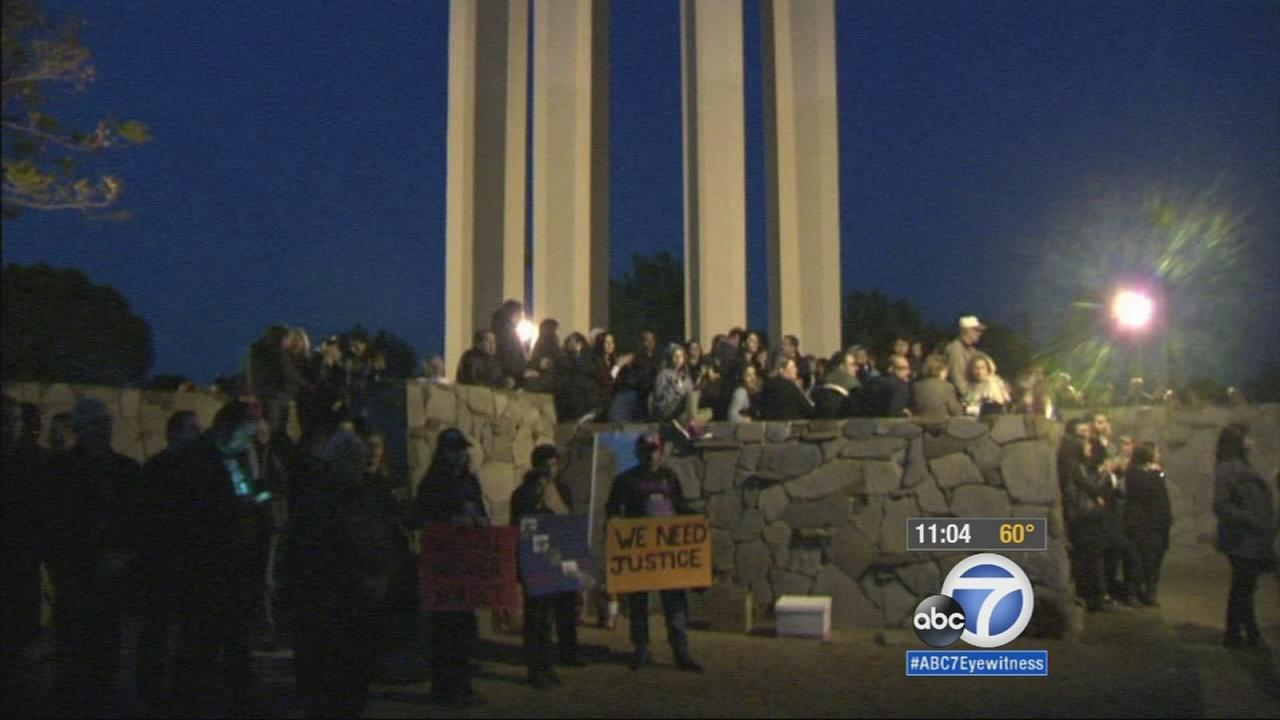 Hundreds of people gathered at the Armenian Genocide Martyrs Monument in Montebello Thursday night to demand acknowledgement of the horrific event in 1915.