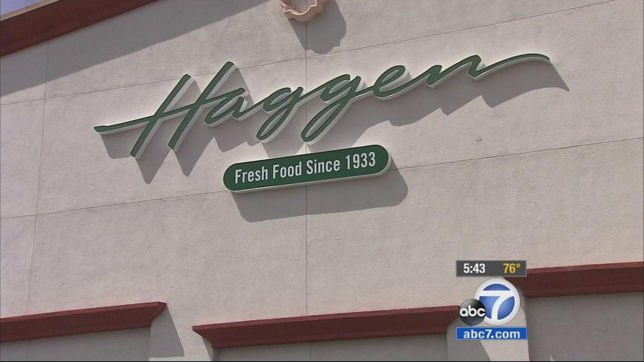 A sign for a Haggen grocery store is shown in this undated file photo.