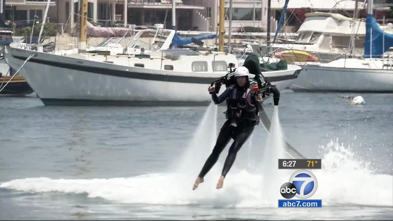 Jetpacks have created controversy for Newport Beach locals who say the futuristic device is too loud, and city council members are voting on whether to ban the attraction.