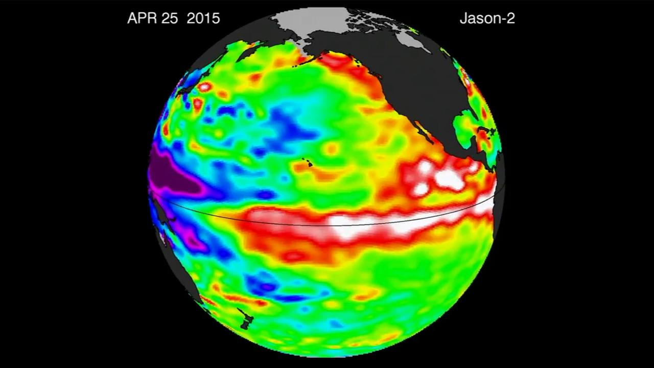 Warm weather gathers around the equator showing early signs of an El Nino for California.