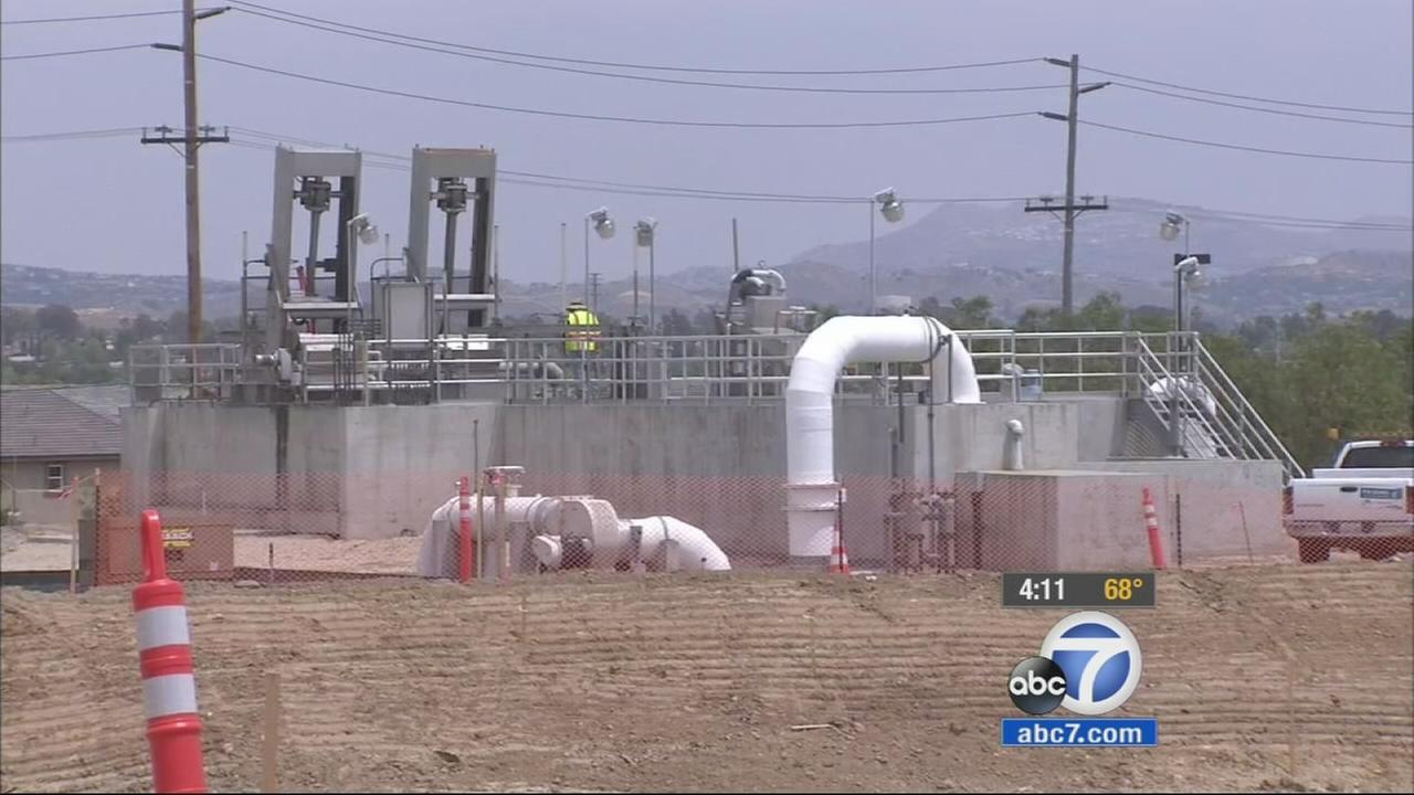 An Eastvale sewage treatment plant is shown in this undated file photo.