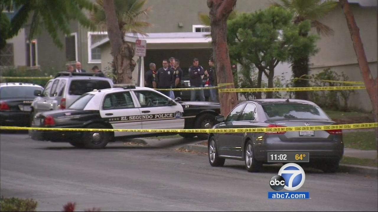 Authorities were investigating the fatal shooting of a man inside a bedroom at an El Segundo apartment on Sunday.