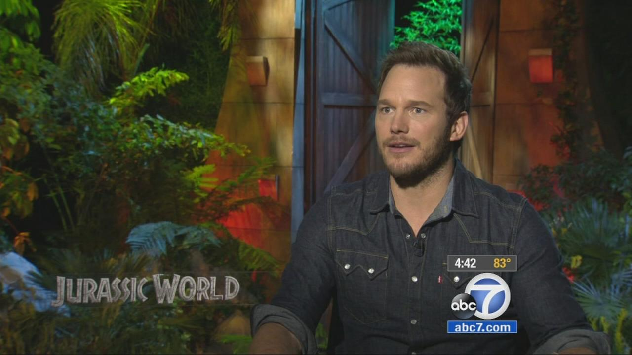 Chris Pratt promotes his movie Jurassic World.