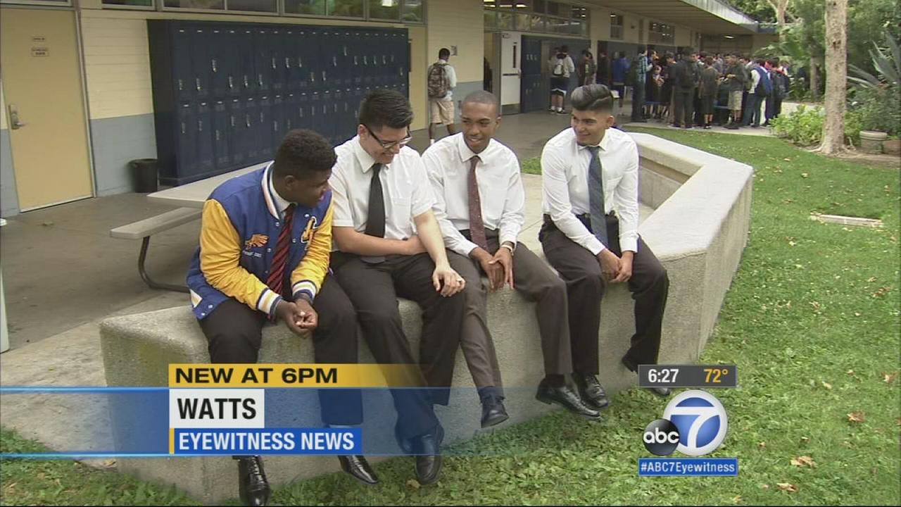 All Boys Watts High School Has 100 Percent College Acceptance Abc7com