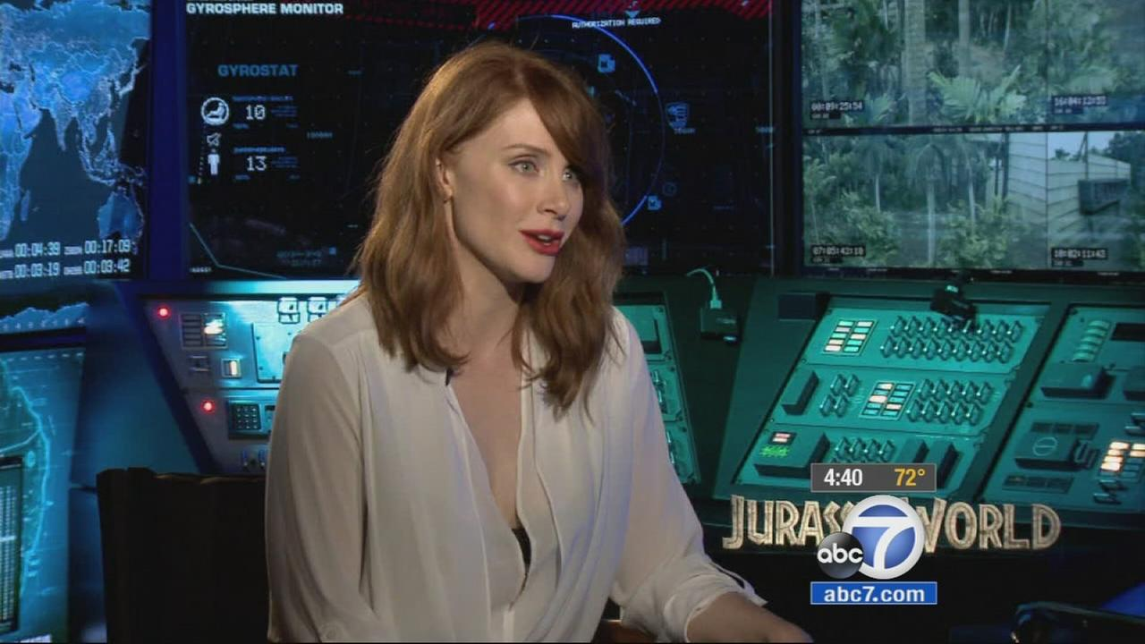 Actress Bryce Dallas Howard stars in the new Jurassic World movie that opened this weekend.