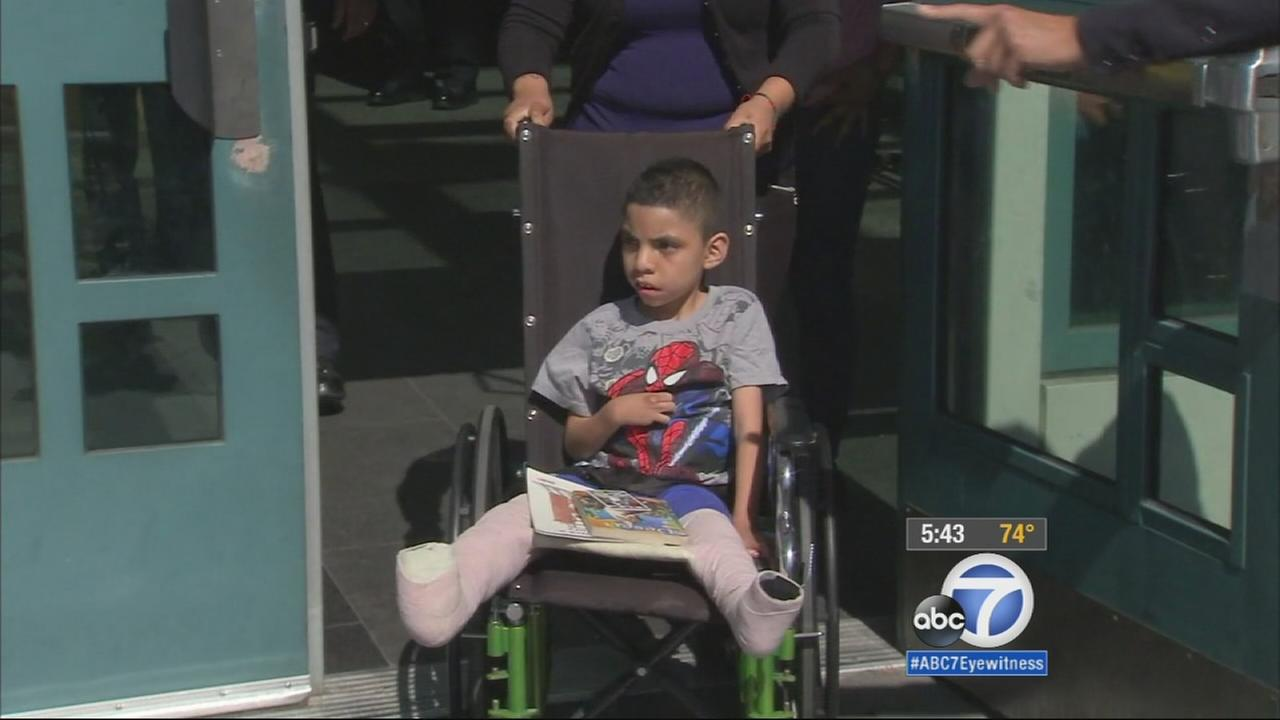 The Los Angeles Police Department is working to raise money to help a 9-year-old boy with cerebral palsy receive new leg braces after his old pair was stolen on June 9.