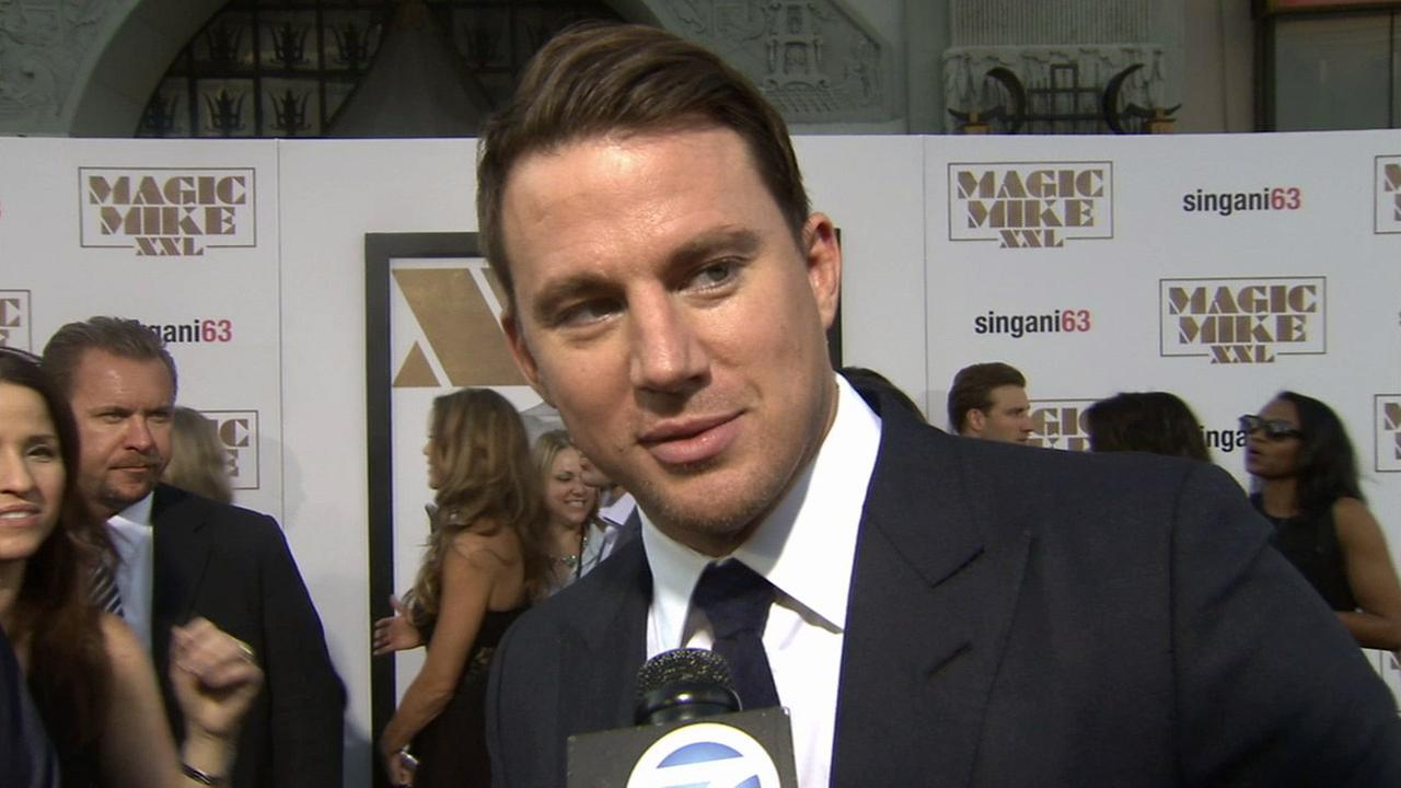 Actor Channing Tatum is shown at the premiere of his movie Magic Mike XXL in Hollywood on Thursday, June 25, 2015.